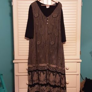 Coldwater Creek Dress with Duster size 2x
